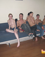 Girls plus guys got wonderful foursome sex on camera.