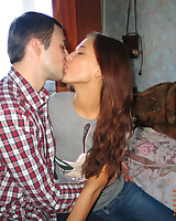 Cutie and her handsome boyfriend are having sex in the sky cam